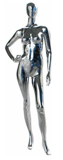 Metallic Mannequin, Chrome Female Mannequin, Display