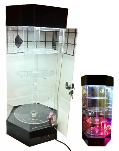 Counter Jewelry Display Revolving Watch Display Case Rotating Cool Revolving Jewelry Display Stand