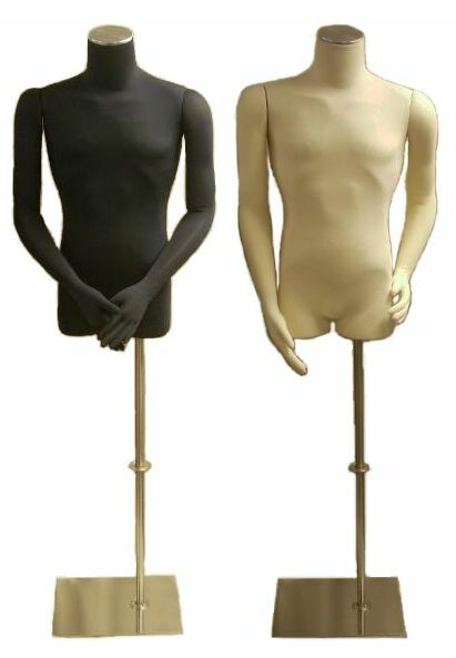 Flexible Arms Dress Form, Male Dress Form, Jersey Form, Floor Freestanding  Form