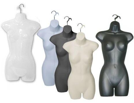 Hanging Display Body Form, Ladies Torso with hanging hook