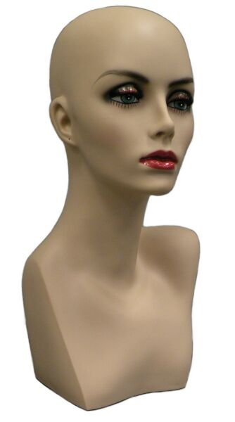 Mannequin Head, Sunglasses Display, Hat Display Form, Jewelry Display,  Female Scarf Display