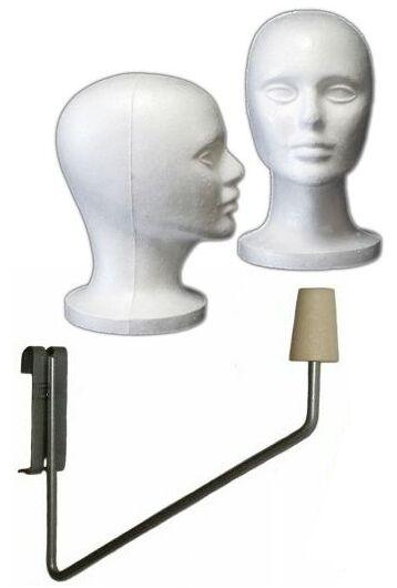 Styrofoam Display Head Ladies Display Head Economy