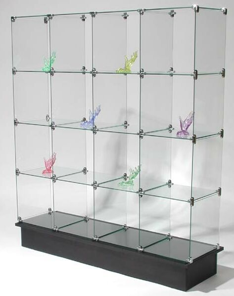 glass cube display unit glass display stand store display glass system rh buystoreshelving com Retail Glass Shelving Retail Store Display Shelves