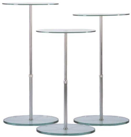 Glass Display Stand Glass Pedestal Handbag Glass Stand