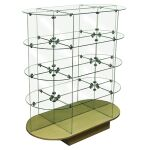 Glass Display Shelving, Glass Shelf Stand, Glass Shelves