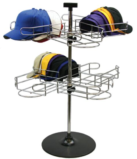 display baseball caps rack counter baseball cap spinning