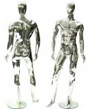 Chrome Male Mannequin, Masculine Man Mannequin, Men's Mannikin, Fashion Male Display