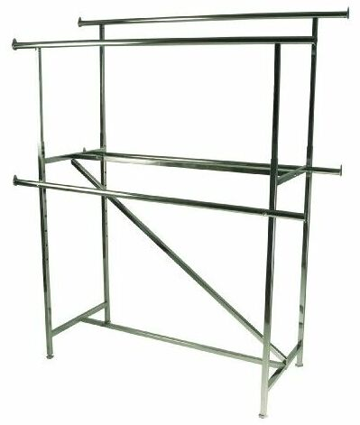 Add On Rails For Double Bar Garment Rack Double Sided