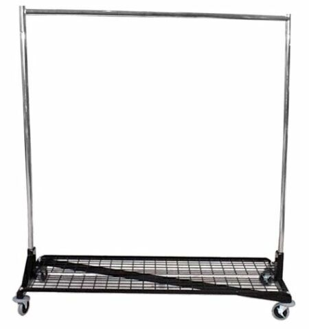 heavy duty clothing rack with storage shelf
