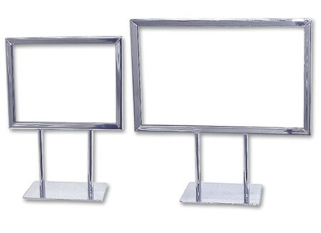 counter table sign holder pricetag display - Metal Sign Frames
