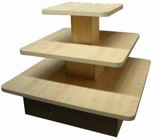 Table Stores: Floor Display Table, Clothing Store Wood Display Unit